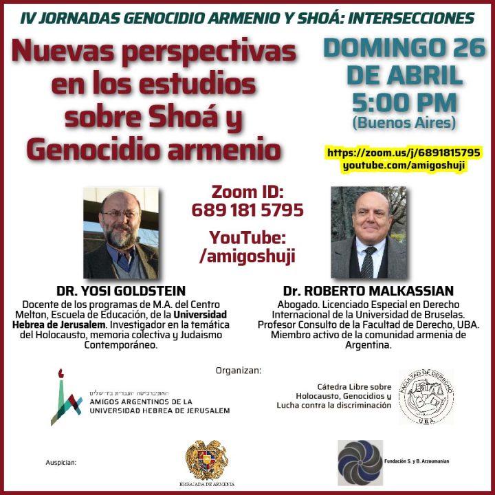 """Video: """"Nuevas perspectivas en los estudios sobre Shoá y Genocidio armenio"""""""