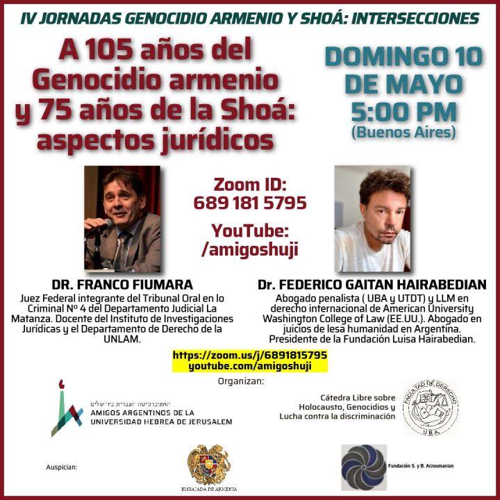 Video: A 105 años del Genocidio armenio y 75 de la Shoá: aspectos jurídicos