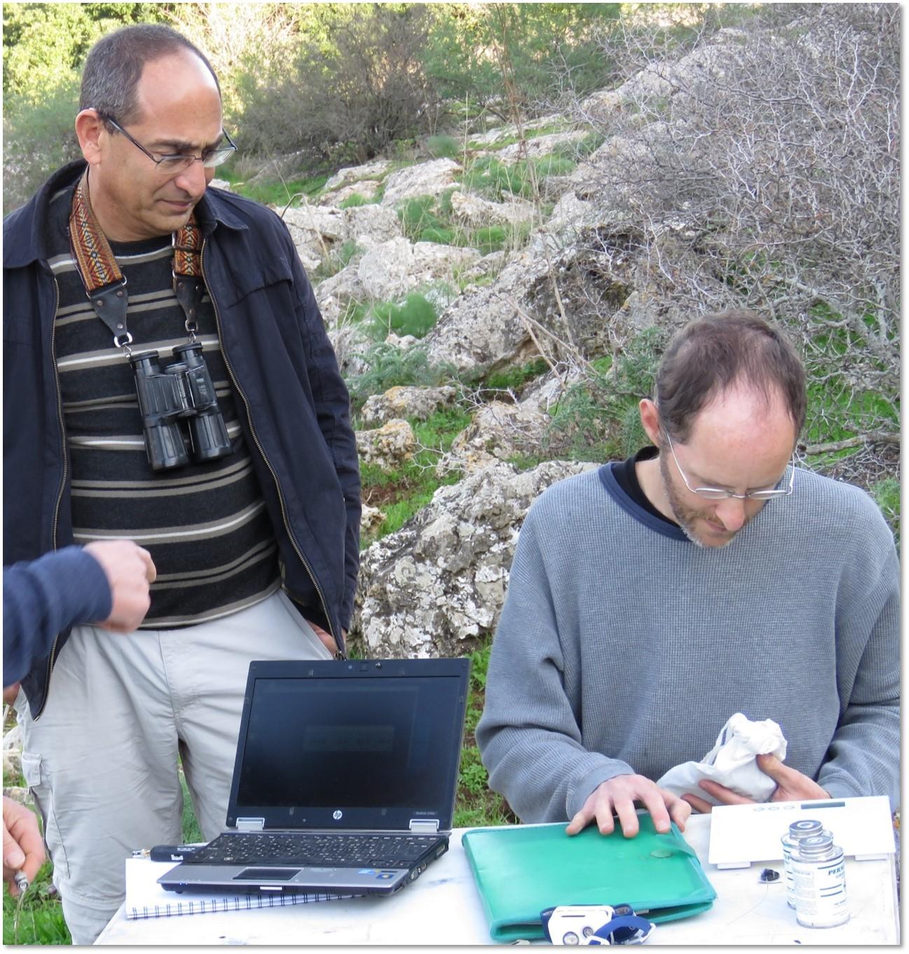 El Profesor Ran Nathan y el estudiante David Shohami