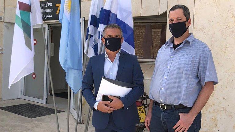 El ex gobernador de Entre Ríos junto al profesor Yaakov Nahmias